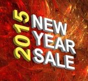 Vendita 2015 del nuovo anno Immagini Stock Libere da Diritti