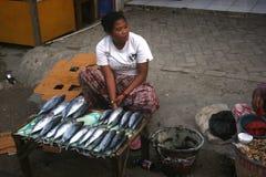 Vendita del pesce Fotografia Stock