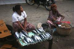 Vendita del pesce Immagine Stock