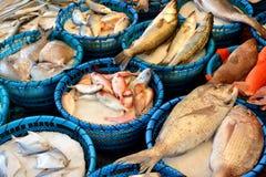 Vendita del pesce Fotografie Stock