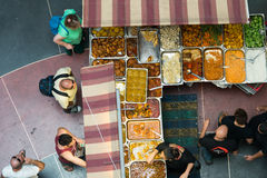 Vendita dell'alimento a Tel Aviv Fotografia Stock Libera da Diritti