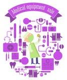Vendita dell'attrezzatura medica Fotografie Stock