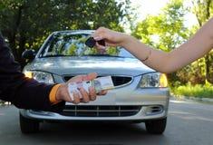 Vendita dell'automobile Fotografie Stock Libere da Diritti