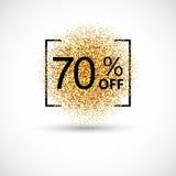 Vendita dell'oro 70 per cento del fondo Fotografie Stock