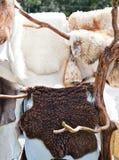 Vendita della pelliccia Fotografia Stock