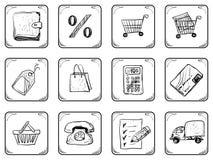Vendita delle icone Fotografia Stock Libera da Diritti