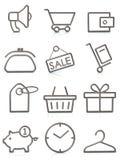 Vendita delle icone Fotografie Stock Libere da Diritti