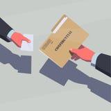 Vendita delle informazioni segrete Fotografia Stock Libera da Diritti