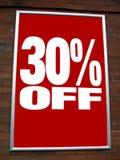 Vendita dentellare e gialla 30% fuori dal segno di vendita Immagini Stock Libere da Diritti