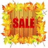 Vendita di autunno del fondo Immagini Stock