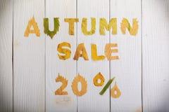 Vendita di autunno 20 per cento Fotografia Stock
