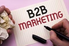 Vendita di B2B del testo di scrittura di parola Concetto di affari per il commercio tra imprese di transazioni commerciali scritt Fotografia Stock