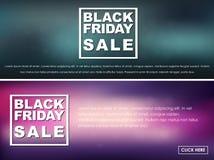 Vendita di Black Friday delle insegne Fotografia Stock