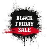 Vendita di Black Friday isolata su un fondo bianco Fotografia Stock