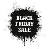 Vendita di Black Friday isolata su un fondo bianco Immagine Stock
