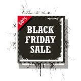 Vendita di Black Friday isolata su un fondo bianco Fotografia Stock Libera da Diritti