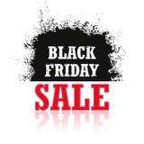 Vendita di Black Friday isolata su un fondo bianco Fotografie Stock Libere da Diritti