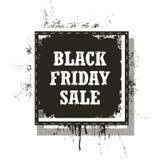 Vendita di Black Friday isolata su un fondo bianco Fotografie Stock
