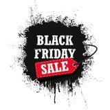 Vendita di Black Friday isolata su un fondo bianco Immagini Stock