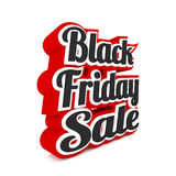 Vendita di Black Friday su bianco Fotografia Stock Libera da Diritti