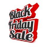 Vendita di Black Friday su bianco Fotografie Stock Libere da Diritti