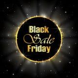 Vendita di Black Friday su fondo stellato Fotografia Stock Libera da Diritti