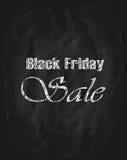 Vendita di Black Friday sulla lavagna nera Immagine Stock Libera da Diritti