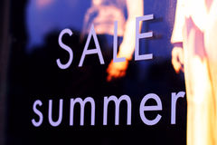 Vendita di estate Fotografie Stock Libere da Diritti