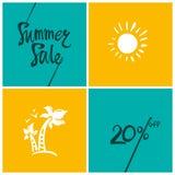 Vendita di estate 20% Fotografia Stock