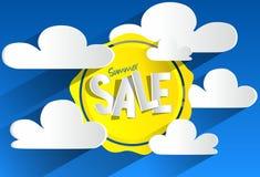 Vendita di estate di hard discount royalty illustrazione gratis