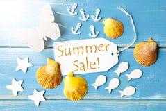 Vendita di estate di Sunny Greeting Card With Text Fotografie Stock
