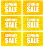 Vendita di estate - un insieme di sei varianti Immagini Stock Libere da Diritti