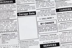 Vendita di garage Immagine Stock Libera da Diritti