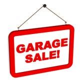 Vendita di garage Fotografia Stock Libera da Diritti