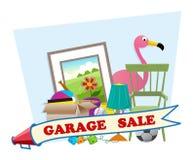 Vendita di garage immagine stock