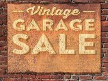 Vendita di garage d'annata Tin Sign Fotografie Stock Libere da Diritti