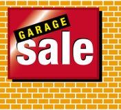 Vendita di garage del contrassegno Immagini Stock