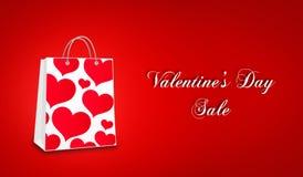Vendita di giorno del ` s del biglietto di S. Valentino Immagine Stock Libera da Diritti