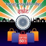 Vendita di giorno della repubblica dell'India Fotografia Stock