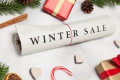 Vendita di inverno Fotografia Stock