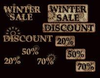Vendita di inverno Immagine Stock