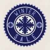 Vendita di inverno dell'emblema Fotografia Stock Libera da Diritti