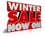 Vendita di inverno ora sopra Immagine Stock