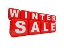 Vendita di inverno su priorità bassa bianca Fotografia Stock Libera da Diritti