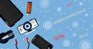 Vendita di Natale dell'insegna immagini stock
