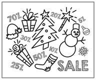 Vendita di natale Insegna per acquisto di Natale immagine stock