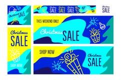 Vendita di natale Insegna per acquisto di Natale immagini stock libere da diritti