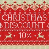 Vendita di Natale: Sconto 10% (modello scandinavo) Fotografie Stock Libere da Diritti