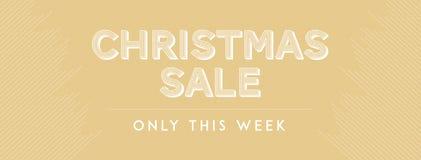 Vendita di Natale soltanto questa settimana Immagini Stock Libere da Diritti