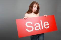 Vendita di pubblicità Immagine Stock